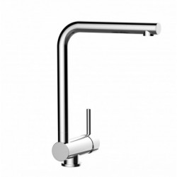 Kitchen single-lever sink mixer with high swivel 360° flat spout