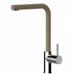 5 way filter tap - Two handle kitchen sink mixer with high swivel spout for water filter system - brushed finish