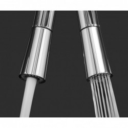 5 way INOX filter tap ideal for professional sparkling, plain and cooled water systems - polished finish