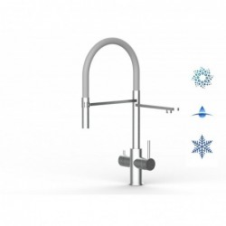kitchen sink mixer with 6cm foldable spout underwindow - handle on left side