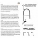 Two handle kitchen sink mixer with swivel spout for water filter system
