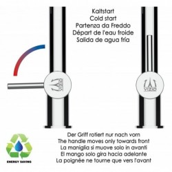 5 way INOX filter tap ideal for professional sparkling, plain and cooled water systems - brushed finish - Grey