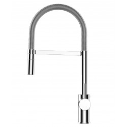 Single-lever kitchen sink mixer with folding spout only 6 cm