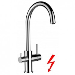 3 way kitchen filter sink mixer with swivel spout for all water filter systems